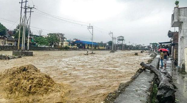 No cruzar calles inundadas