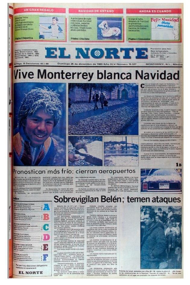 Nevada en Monterrey del 24 y 25 de diciembre 1983