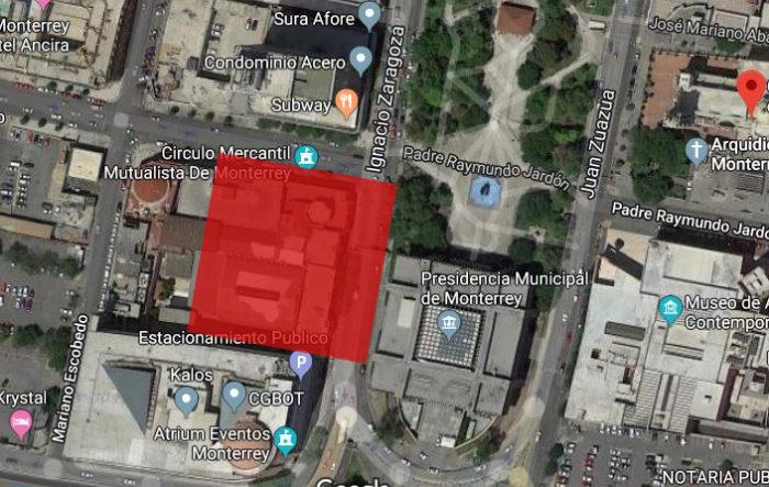 mapa-donde-estaba el templo de san andres